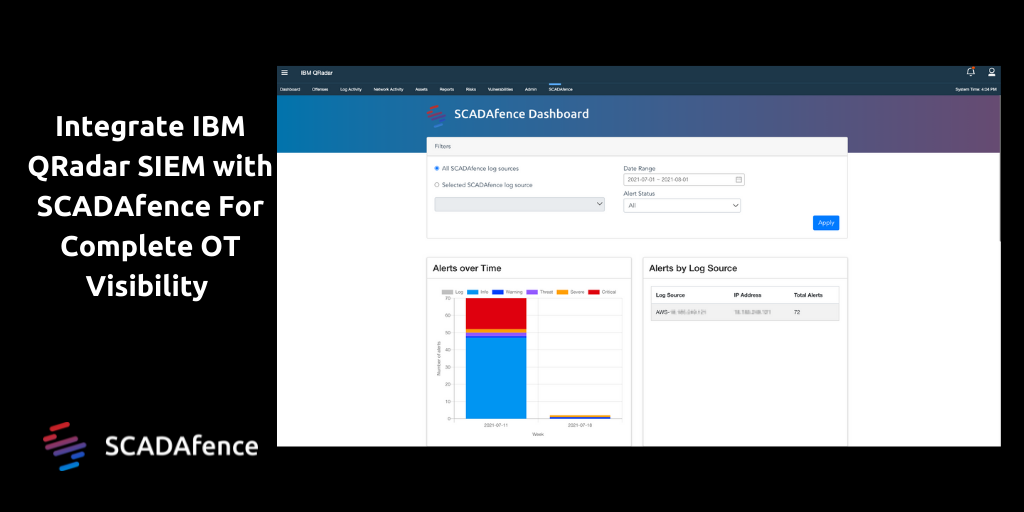 Integrate IBM QRadar SIEM with SCADAfence For Complete OT Visibility